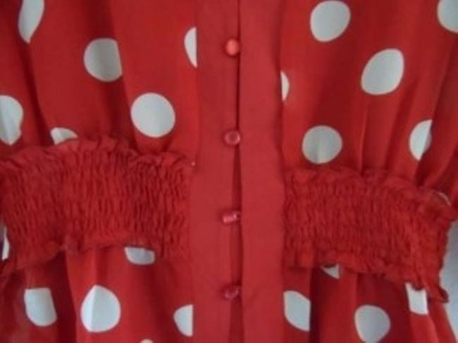 MG Original Paris/New York Top Red/White poke-dotted