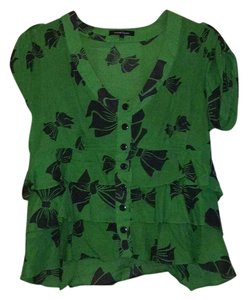 Nanette Lepore Top Green, navy