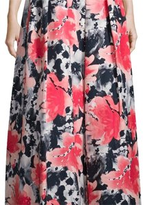 Carmen Marc Valvo Floral Formal Casual Maxi Skirt Coral