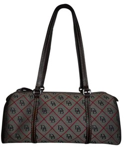 Dooney & Bourke Leather Satchel in brown & red