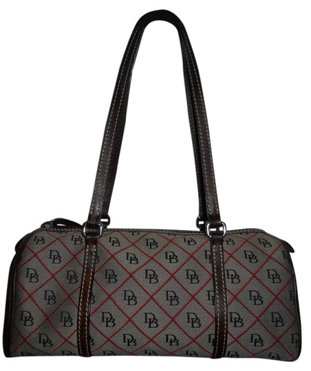 Preload https://img-static.tradesy.com/item/16378567/dooney-and-bourke-signature-fabric-shoulder-brown-red-canvas-leather-trim-satchel-0-1-540-540.jpg
