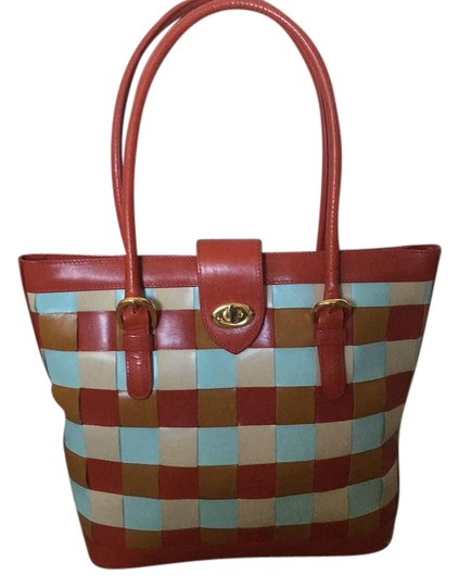 Preload https://img-static.tradesy.com/item/16378792/cynthia-rowley-red-tan-and-sky-blue-leather-tote-0-1-540-540.jpg