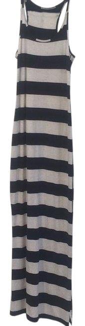 Item - Black and Heathered White Refresh Long Casual Maxi Dress Size 8 (M)