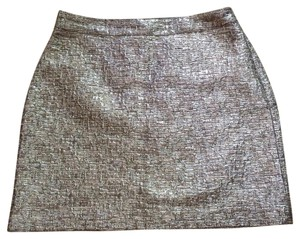 Banana Republic Mini Skirt Silver