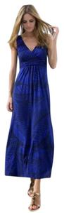 Purple Maxi Dress by Boden Stretch Tropical