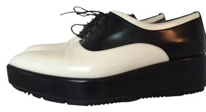 Prada Black and White Platforms