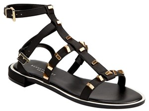 Kenneth Cole Black with Gold Studs Sandals
