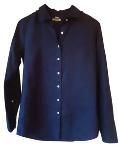 J.Crew Navy Linen Longsleeve Button Down Shirt