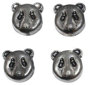 Other Silver Alloy Panda Pandora Compatible Beads