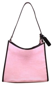 Lauren Ralph Lauren Classy Formal Pink Canvas Never Full Shoulder Bag