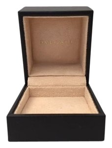 BVLGARI Bvlgari Black Leather Square Jewelry Earrings Necklace Ring Gift Box.
