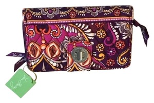 Vera Bradley Safari Sunset Turn Lock Wallet