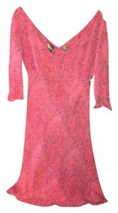 Angie Pink Purple Snakeskin Dress