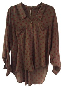 Free People Button Down Sheer Button Down Shirt
