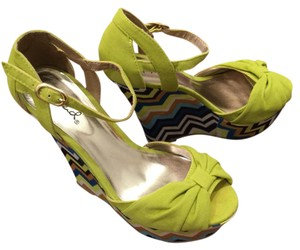 Qupid apple green, multicolor Wedges