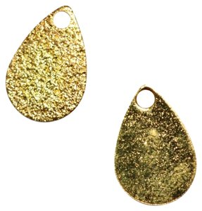 Other Jewelry Designers 14mmx9mm Gold Plated Textured Tear Drop Jewelry Tags