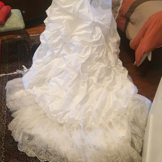 Maggie Sottero Dwpewter Polyester Traditional Wedding Dress Size 14 (L)