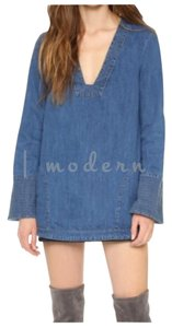 Free People short dress Denim Blue Bird on Tradesy