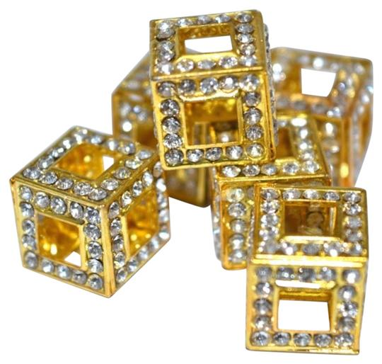 Preload https://img-static.tradesy.com/item/16380166/gold-clear-rhinestones-silver-3d-dimensional-cubed-beads-0-1-540-540.jpg