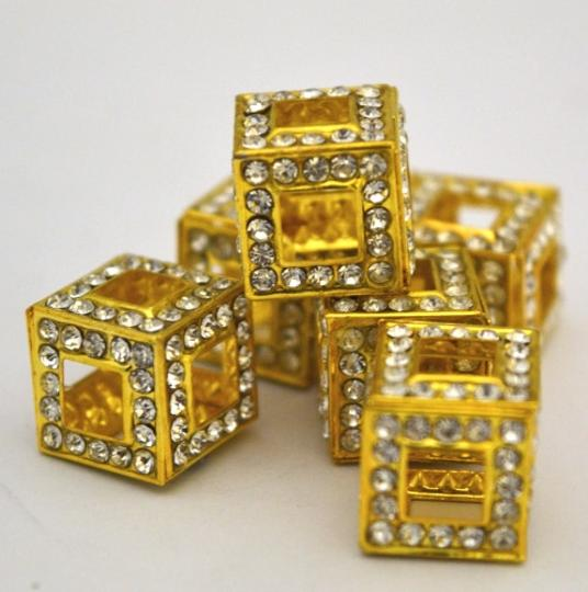 Other 3D Dimensional Rhinestone Cubed Beads