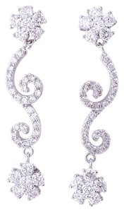 Other Fashion Drop Encrusted CZ Post Back Earrings