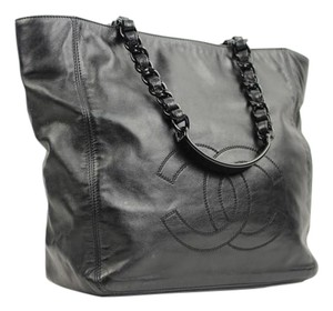 Chanel Gst Neverfull Tote Black Chain Shoulder Bag