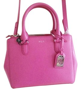 Ralph Lauren Pink Leather Dustbag Included Cross Body Bag