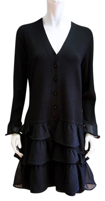 Preload https://item3.tradesy.com/images/d-exterior-black-ruffle-one-piece-button-down-xl-14-knee-length-cocktail-dress-size-16-xl-plus-0x-1638112-0-0.jpg?width=400&height=650