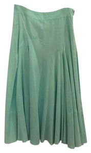 Banana Republic Silk Blend Maxi Skirt Sea Foam Green