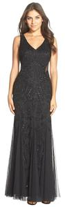 Adrianna Papell Cut-out Beaded Embellished Gown Dress