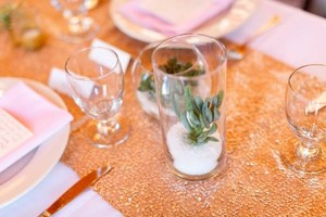 Champagne Sequin Table Runners