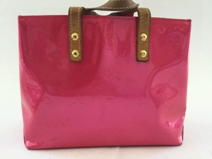 Louis Vuitton Rare Vernis Vernis Speedy Keepall Satchel in Pink