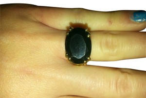 Onyx Nite Vintage Large high set black onyx ring. size 8