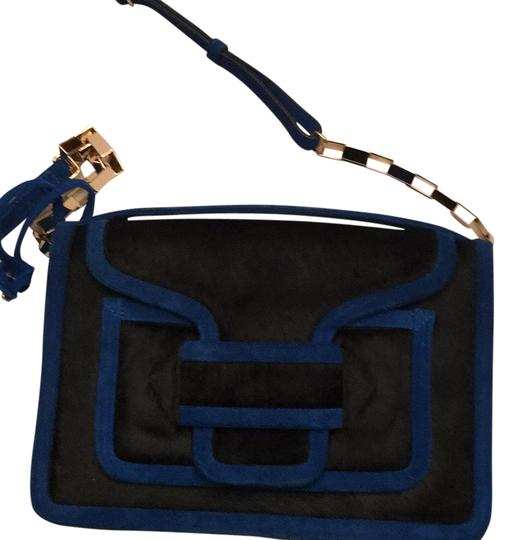Preload https://img-static.tradesy.com/item/16381729/pierre-hardy-blue-and-black-pony-hair-cross-body-bag-0-1-540-540.jpg