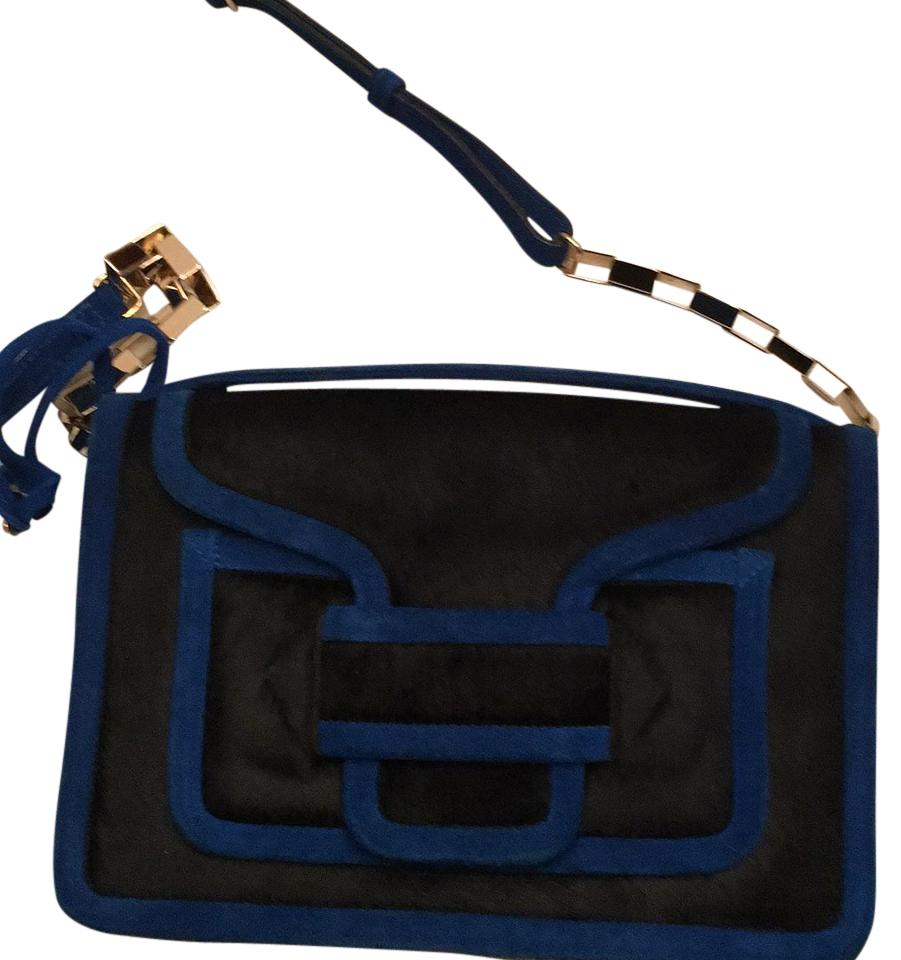 Pierre Hardy Blue And Black Pony Hair Cross Body Bag 62 Off Retail