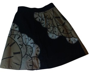 Floreat Skirt Black, tan, cream