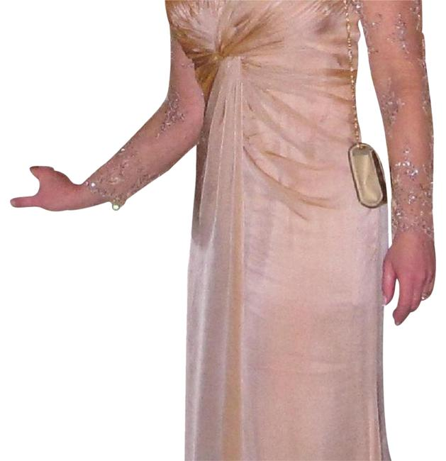 Item - Light Peach Mother Of The Bride Mid-length Formal Dress Size 8 (M)