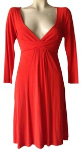 Anthropologie Empire Waist Knit Red Tie Waist Dress