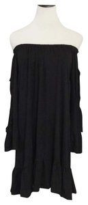 short dress Black Bohemian Off Shoulder on Tradesy