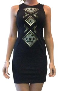 Express Gold Studded Party Dress