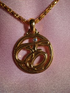 Other Initial 'E' w/Crystal Necklace