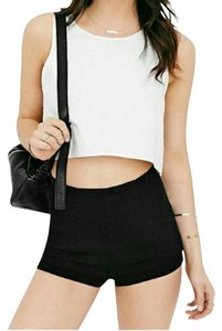 Urban Outfitters Ribbed Highwaisted Shorts Black