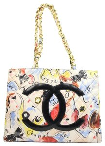 Chanel Cc Logo Chain Gst Limited Edition Rare Tote in Multicolo