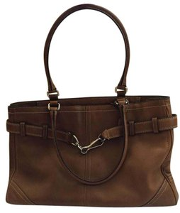 Coach Leather Brown Leather Shoulder Bag
