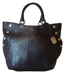 Furla Satchel Ostrich Leather Tote in Brown