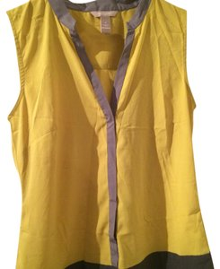 Banana Republic Top Yellow and grey