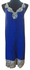 Express Slip Cobalt Cocktail Dress