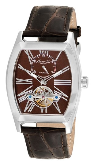 Preload https://item4.tradesy.com/images/kenneth-cole-silver-male-dress-kc1983-brown-analog-watch-1638368-0-0.jpg?width=440&height=440