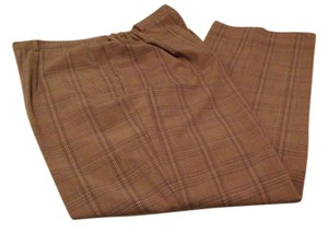 Sag Harbor Trouser Pants Brown Plaid