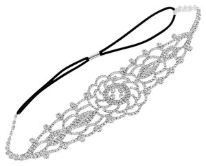 Modern Edge Crystal Stretch Wedding Headband